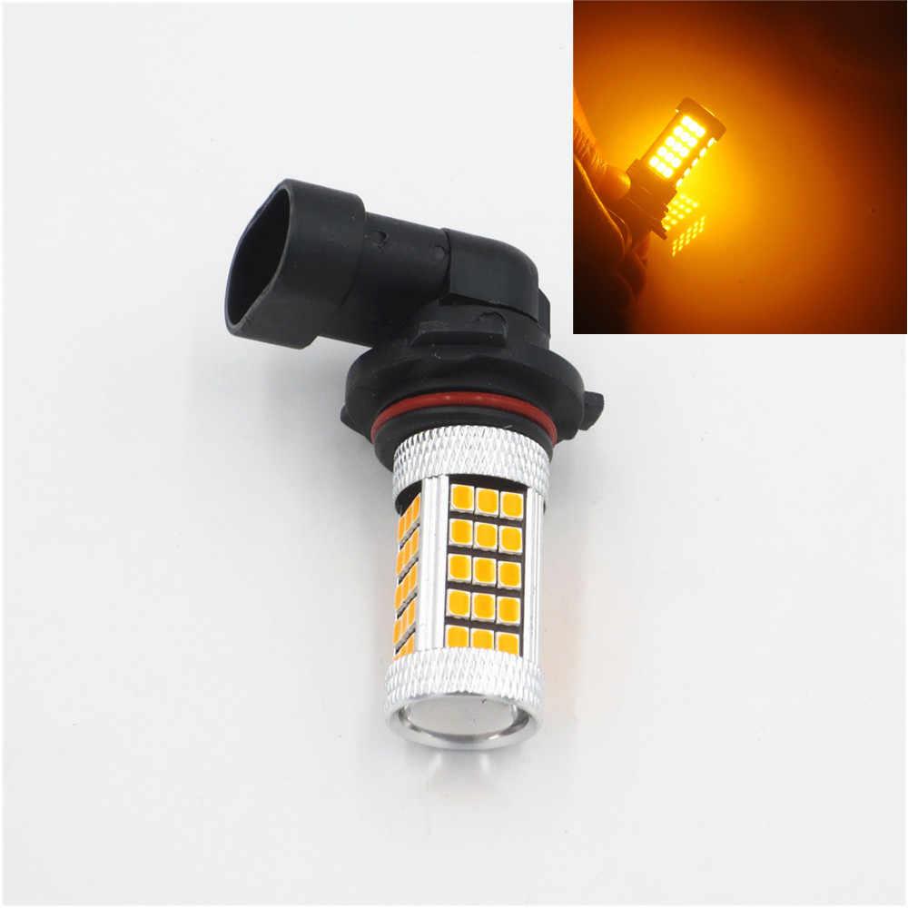 Samochód 9006 HB4 2835 63 SMD 66 1200 lm bursztynowy żółty żarówka światło przeciwmgielne dla DRL 12V