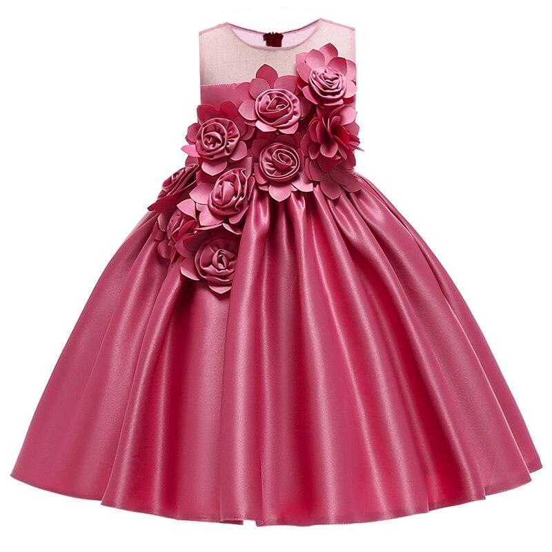 Elegant Kids   Girl   Wedding   Flower     Girls     Dress   Princess Party Pageant Formal   Dress   Evening Little Baby   Girl   Birthday   Dress