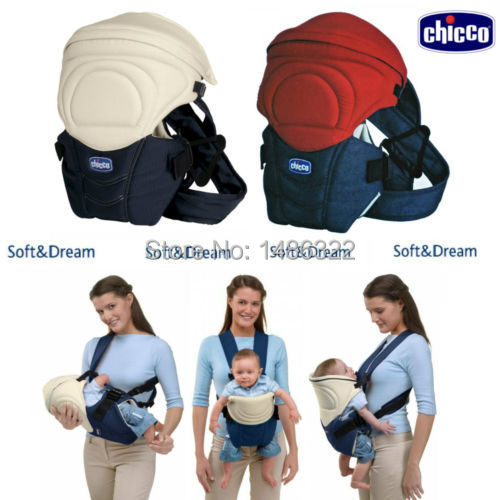 High quality Chicco Soft Multi-Function Baby Sling Infant Backpack Carrier(RED/BLUE)