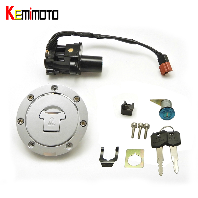 KEMiMOTO Ignition Switch Fuel Gas Cap Lock Key for Honda CBR600RR 2007-2014 CBR1000RR CB1000 motorcycle accessories high quality motorcycle parts aluminum alloy gas fuel petrol tank cap cover fuel cap for honda cbr 929 954 rc51 all years