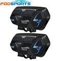 Fodsports 2 stücke M1-S Pro Motorrad Helm Intercom Gruppe 8 Reiter Helm Bluetooth Headset Wasserdichte Freisprecheinrichtung Sprech Moto