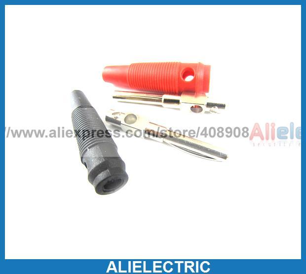 ФОТО 40pcs Copper Silicone Banana Plug 4mm Banana Bars for DC Plug Binding Post Cables