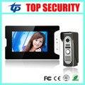 Diferentes tipos de cor telefone video da porta de vídeo tela de 7 polegada sistema de intercomunicação com fio campainha da porta com controle de acesso ao cartão RFID leitor