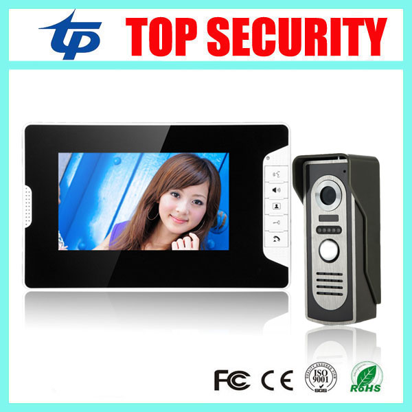 Different kinds color screen 7 inch video door phone video intercom wired door bell system with RFID card access control reader 125khz rfid smart card door access control system 1000 user id card reader 7 inch video door phone video intercom system