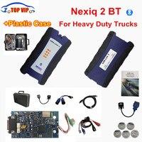DHL Ücretsiz NEXIQ-2 USB Bağlantı Yeni Varış Oto Ağır Kamyon Kamyonlar Için Nexiq 2 Bluetooth OBD Teşhis Aracı ile Taşıma çantası