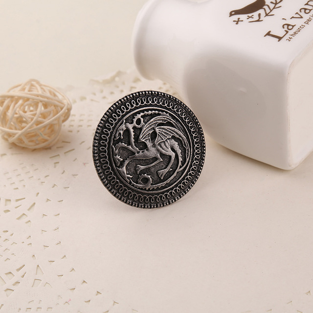 Game of Thrones Vintage Targaryen Dragon Pin Brooch