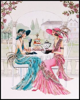 Needlework for embroidery DIY French DMC High Quality - Counted Cross Stitch Kits 14 ct Oil painting - Art Deco Lady 2