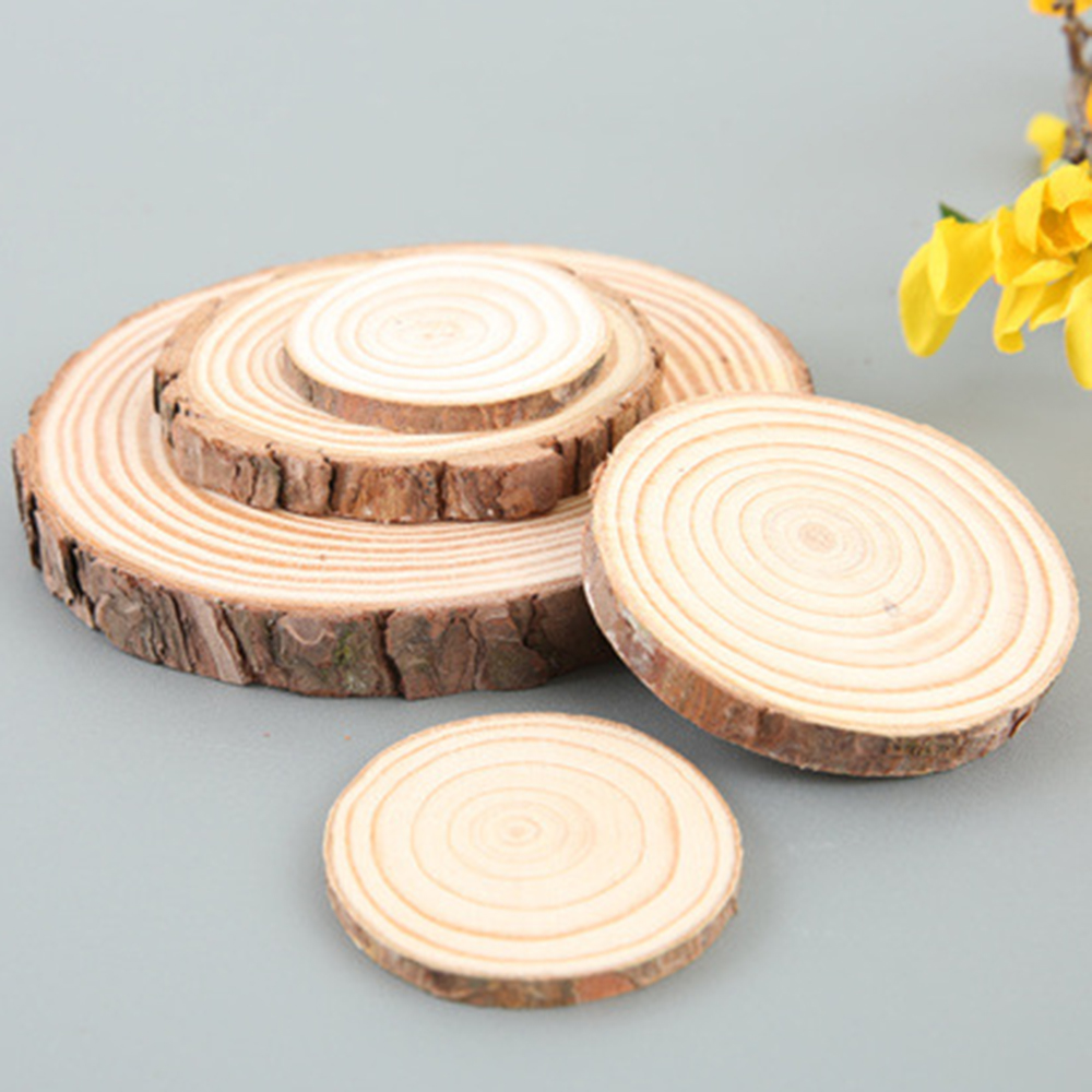 Decorative Wood Chips ~ Pc logs annual rings round wood chips style diy