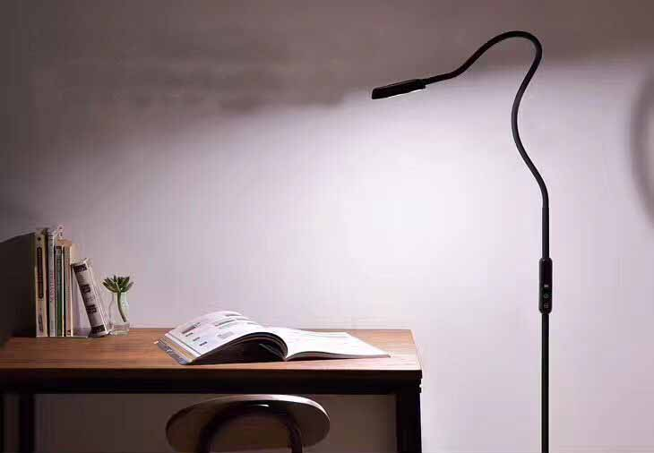 Lagpousi Led Gooseneck Floor Lamp For Reading Crafts Crocheting Knitting Or Sewing 5 Color Temperatures Level Dimmable In Lamps From Lights