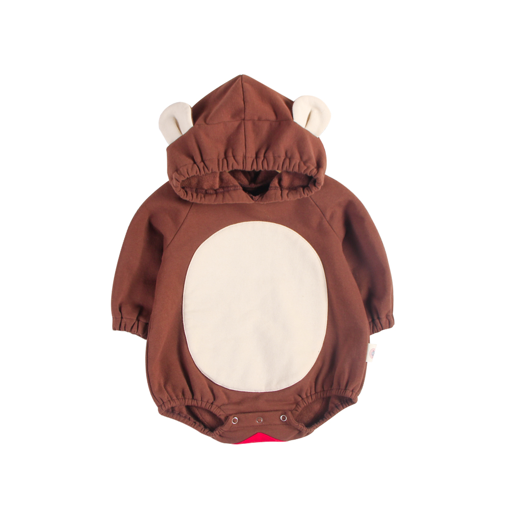 2018 New Fashion Cute Infant Newborn Baby's Romper Patchwork Long Sleeve Cotton Hooded Romper Baby Jumpsuit Outfits Clothes puseky 2017 infant romper baby boys girls jumpsuit newborn bebe clothing hooded toddler baby clothes cute panda romper costumes