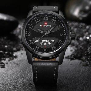 Image 5 - New Luxury Brand NAVIFORCE Men Fashion Casual Watches Mens Quartz Clock Man Leather Strap Army Military Sports Wrist Watch