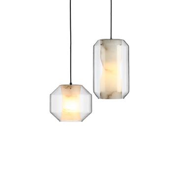 LukLoy آخر الحديثة قلادة ضوء شنقا مصباح ضوء مطبخ تركيبات المعيشة الطعام غرفة Hanglamp السرير الزجاج تعليق