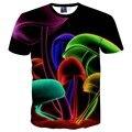Цветы футболки для мужчин/женщин вскользь 3d футболка Ницца печати Тупак/Для собак/cat Сорняков футболка мода