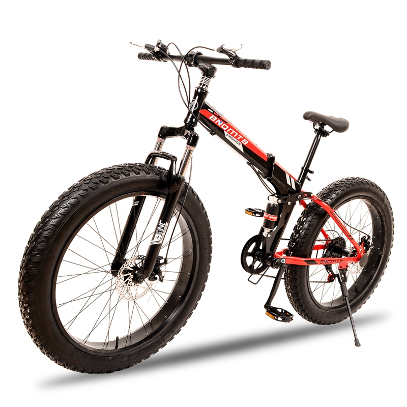 Folding Road Bike 7/21 speed 26X4.0 inch mountain bike fat bike Snow bicycle brand Front and Rear Mechanical Disc Brake new 26 inch 7 21 27speed cross country mountain bike aluminum frame snow beach 4 0 oversized bicycle tire dirt bikes for men
