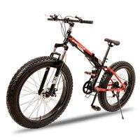 YOUMA Folding Snowmobile 4 0 Super Wide Tires Mountain Bike Bike Men And Women Cycling Adult