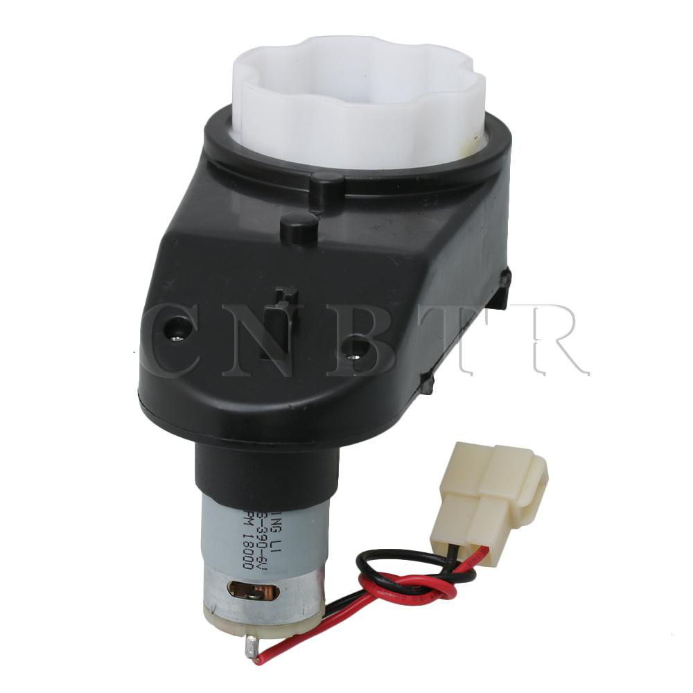 CNBTR Black 18000RPM 6V <font><b>390</b></font> Drive Engine Gearbox with <font><b>Motor</b></font> for Kids Powered Ride on Cars Replacement image