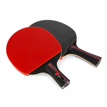 Professional Carbon Fiber Table Tennis Racket Blade With Double Face Pimples-in Ping Pong Racket Rubber Original With Bag