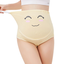 Cartoon Cotton Pregnant clothing High Waist Mother Belly Support Underwear Postpartum Brie