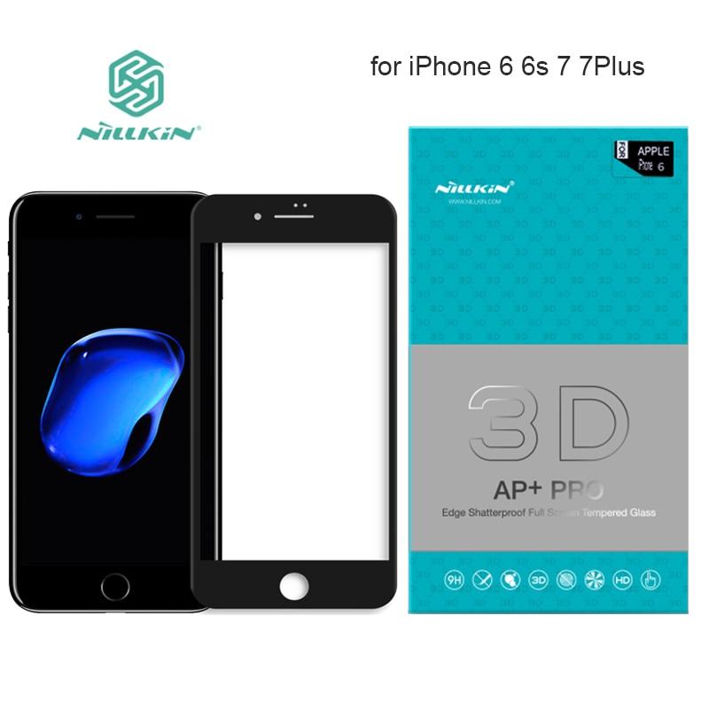 imágenes para Ap + pro cubierta completa de vidrio templado protector de pantalla de nillkin para el iphone 6 6 s Más 7 7 Plus 9 H Duro Completo 3D Pantalla Táctil de Cristal
