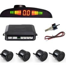 Sensor de aparcamiento LED Parktronic para coche con Four sensores indicador de alerta de sonido para Track de Radar de estacionamiento de coche