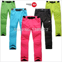 Free shipping 2016 The new Snowboard Pants girl, waterproof and windproof thick warm pants lovers straps Ski Pants Size