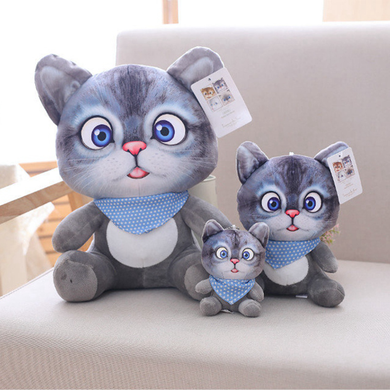Simulation Stuffed Cat Toys Double-side Seat Sofa Pillow 1