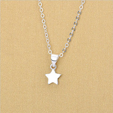 TJP Trendy Female Star Pendants Necklace Jewelry Girl Fashion 925 Sterling Silver Choker For Lady Christmas Accessories