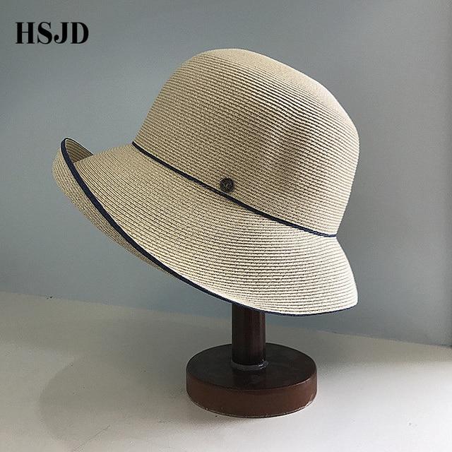 d1dbf65e6 Elegancki Szerokim Rondem Sun Straw Hat dla Kobiet 2018 New Fashion Kobieta  Anty-uv Plaży