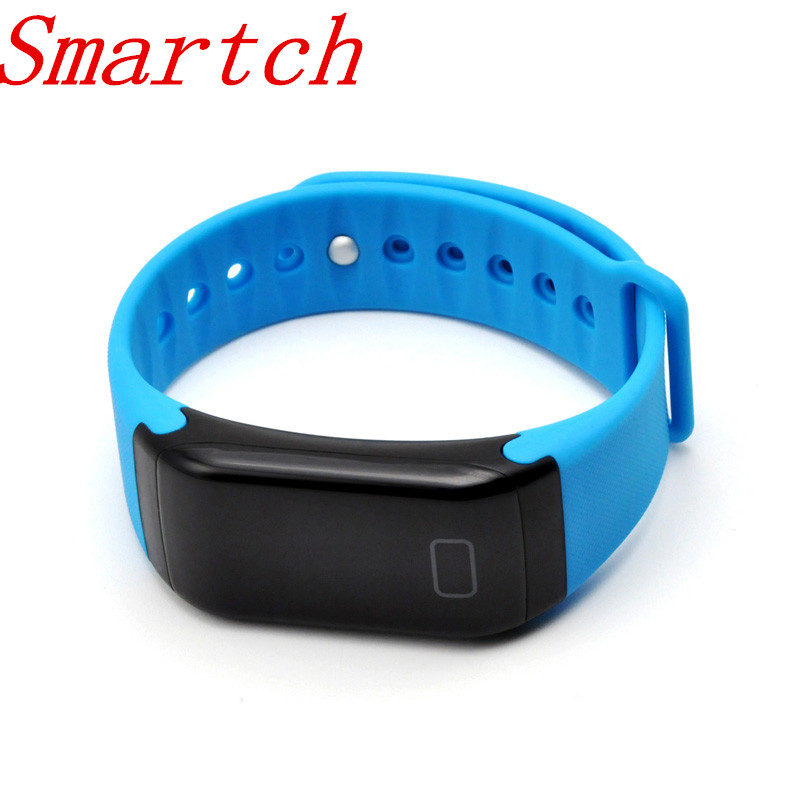 Smartch F1 Smart Band Blood Oxygen Pressure Monitor Sport Bracelet Heart Rate Monitor Call SMS Reminder
