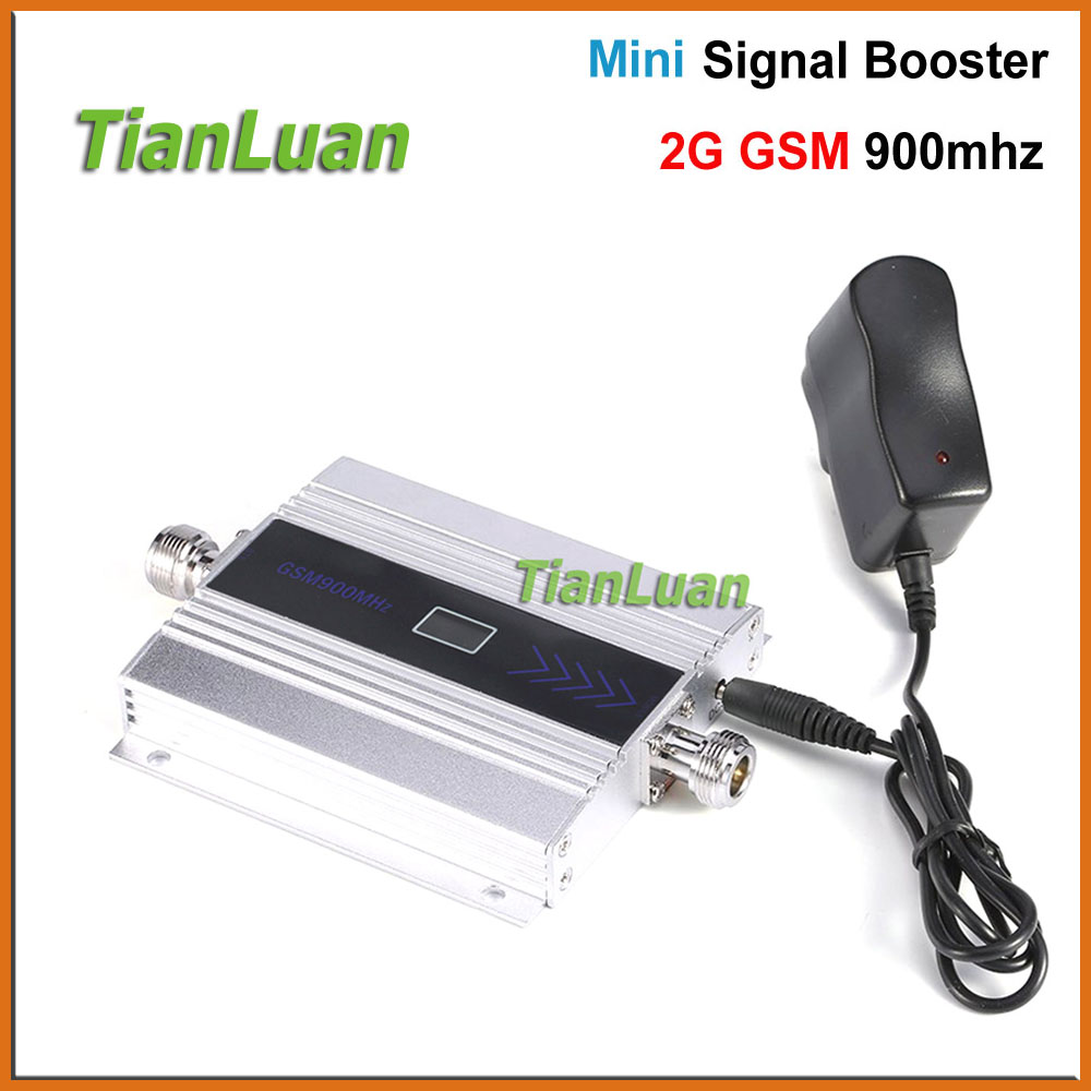 TianLuan Mini GSM 900Mhz Mobile Phone Signal Booster GSM Signal Repeater 2G Cell Phone Signal Amplifier + Power / LCD Display