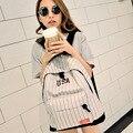 Estilo coreano designer listrado zíper lona mochila mochilas mochilas adolescente meninas sacos de escola grande saco de viagem portátil feminino mulheres