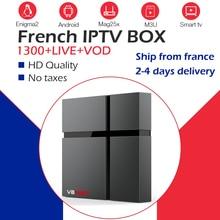 Понял французский IPTV Wechip V8 Max 2 г 32 г/64 г Amlogic S905X2 двойной WI-FI+ 1100+ жить с системой Neo IPTV арабский Бельгии Марокко телеприставке