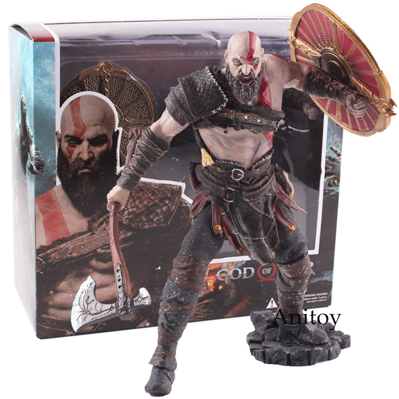 Original God of War 4 Kratos PVC Action Figure Collectible Model Toy Kratos God of War Game Action Figures Kratos Figure Statue new hot christmas gift 21inch 52cm bearbrick be rbrick fashion toy pvc action figure collectible model toy decoration