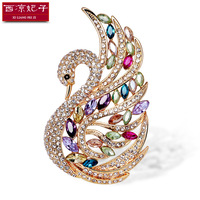 2016 New Arrival Swan Brooch Fashion Crystal Pins AAA Zircon Brooches Pins Wedding Jewelry Clothing Accessories