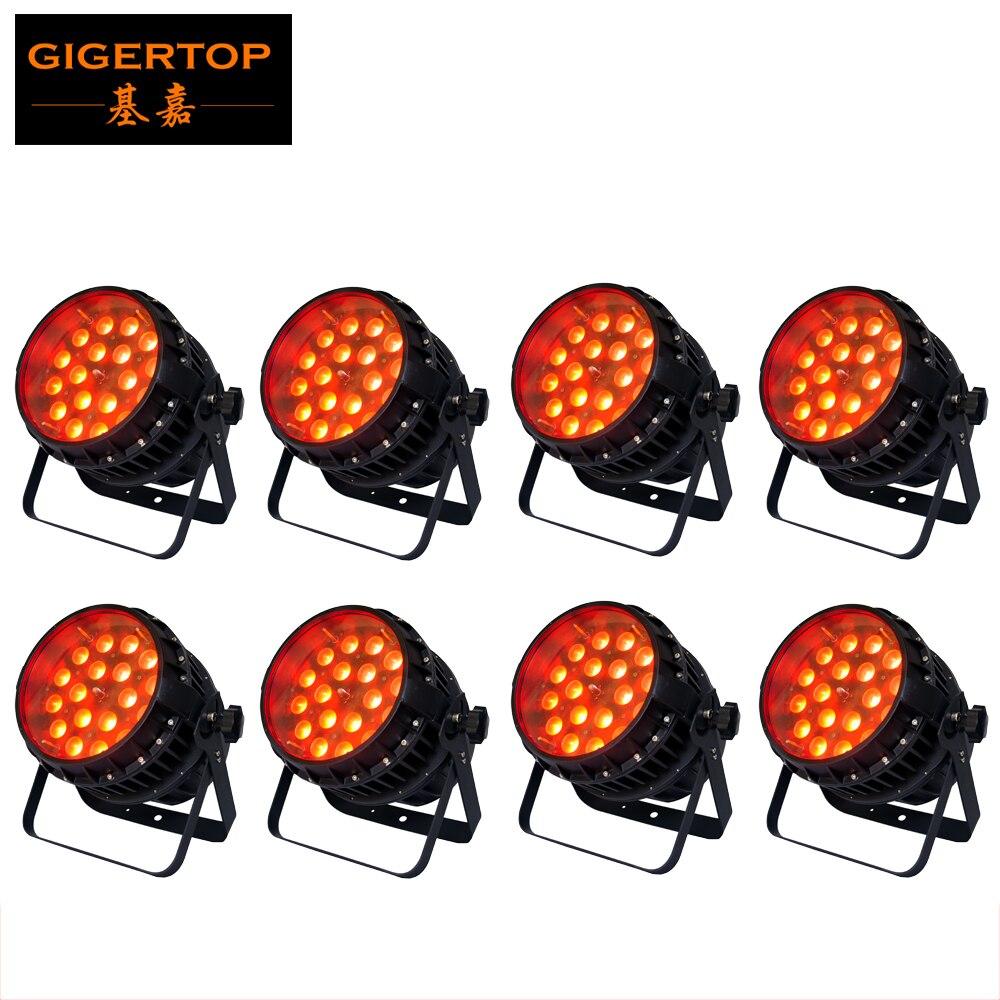 Factory Direct Sale 8 Pack 18x12W RGBW Mixed Color Zoom LED Par Light,LED Par Light,Outdoor Zoom Par Light Cheap Price 100V-220V