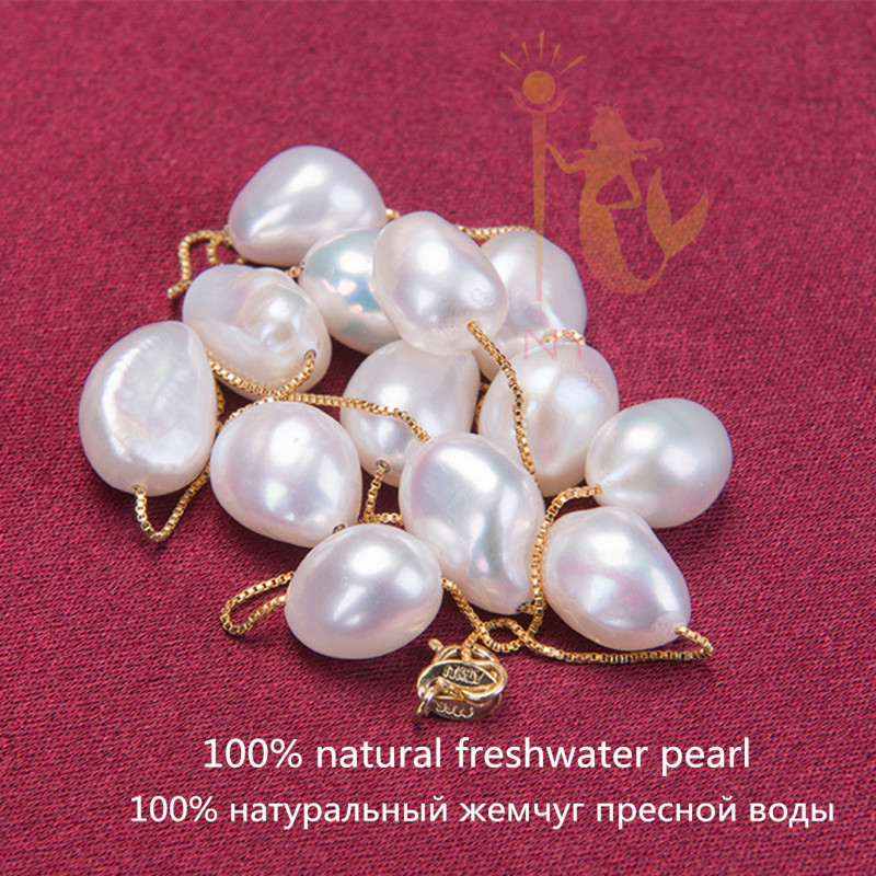 NYMPH 925 sterling silver jewelry natural pearl jewelry white baroque pearl jewelry necklace pendant for [NYMPH] 925 sterling silver jewelry natural pearl jewelry white baroque pearl jewelry necklace pendant for women x1213