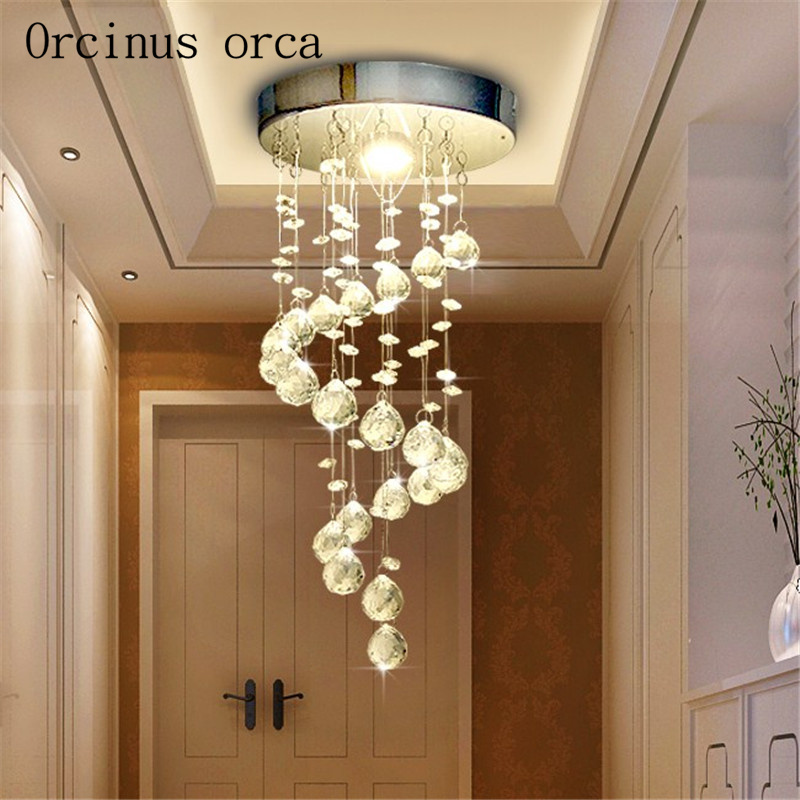 New Suspension Hanging Crystal LED 3W mini Ceiling Lamp Corridor Balcony Aisle Hallway Lights Living Room Indoor Lighting minimalist single ring d15cm crystal ceiling lamp led aisle lights stainless steel corridor home balcony dining room lighting