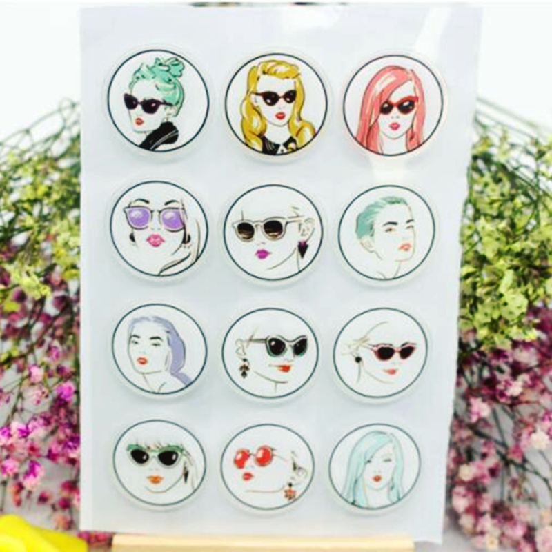 SCS52 Girl Silicone Clear Stamps for Scrapbooking DIY Album Cards Decoration Embossing Folder Craft Rubber Stamp Tools Molds New in Stamps from Home Garden