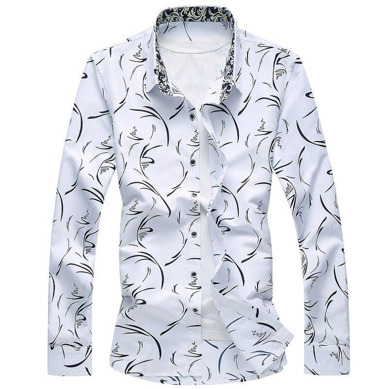 YuWaiJiaRen Männer Floral Shirts 7XL Langarm Herren Phantasie Shirts ...