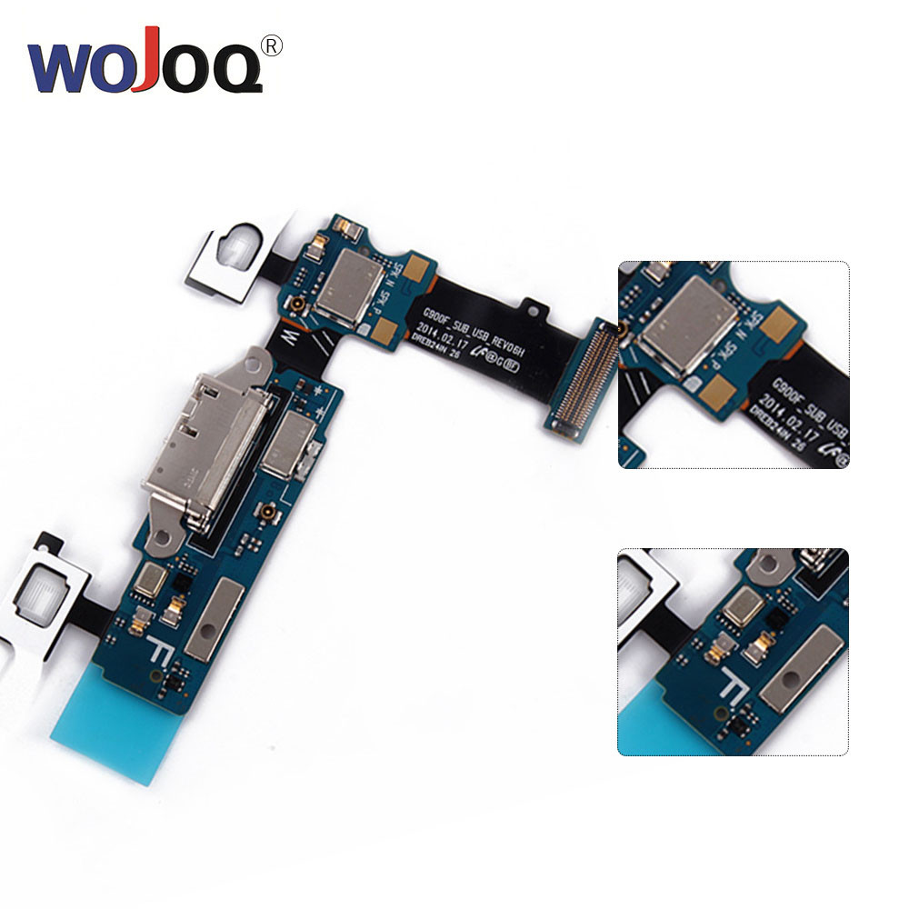 WOJOQ Original For Samsung S5 G900 G900F G900A G900T G900V G900P Charger Charging Port Dock Connector Micro USB Port Flex Cable