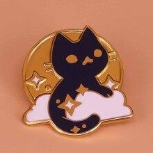 Космическая кошка брошь космическая булавка галактика значок милые заколки с животными Астрономия ювелирные изделия астронавт подарок