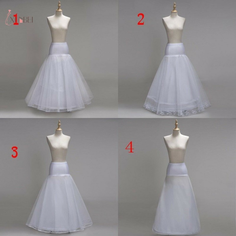 fc7080938ebb 2019 White Hoop Long Bridal Wedding Petticoat Crinoline Ball Gown Skirt  Underskirt Slips Wedding Accessories Jupon