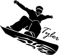Custom Names Dacals Custom Name Text Snowboard Ski 3 Vinyl Wall Art Sticker Decal Decor