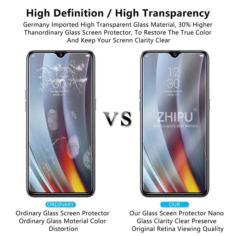 Image 5 - 2 Pcs Tempered Glass For OPPO Realme 3 Pro Glass Screen Protector 2.5D Tempered Glass For Realme 3 Pro RMX1851 Protective Film-in Phone Screen Protectors from Cellphones & Telecommunications