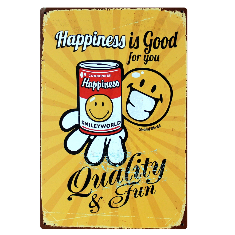 Mike86 ] Happiness Smile Expression Smileyword Metal Craft Wall ...