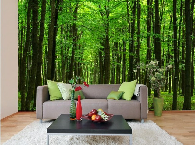 3d Bathroom Wallpaper Home Decoration Customized Wallpaper For Walls Forest  Scenery Classic Wallpaper For Walls