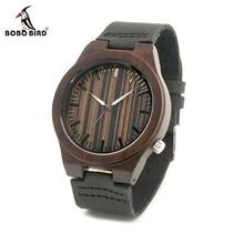 Bobo bird b13 древесины наручные часы антиквариата способа эркек часы с кожаный Ремешок Повседневная Кварцевые Часы для Мужчин в Бумагу Подарок коробка