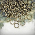 200pcs/lot 7x7mm Antique Brass Plated Round Open Jump Rings Hoop Key Rings Making DIY Bracelet Jewelry JR0011