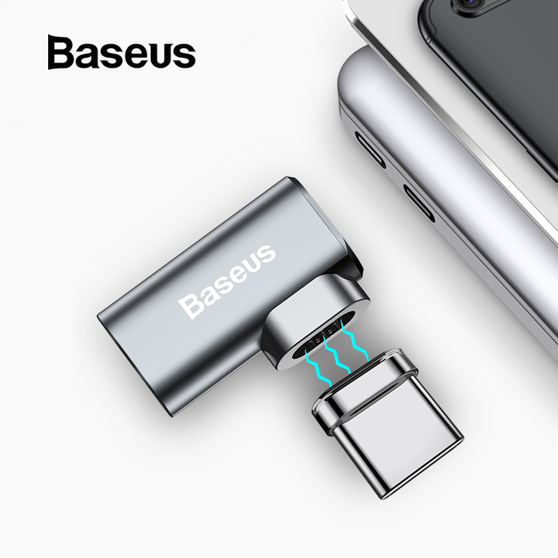 Baseus 86 W Magnetische Usb C Adapter Voor Macbook Pro 15 Inch 6 Pins Elleboog Usb Type C Lading Connector Voor Samsung Usb Adapter