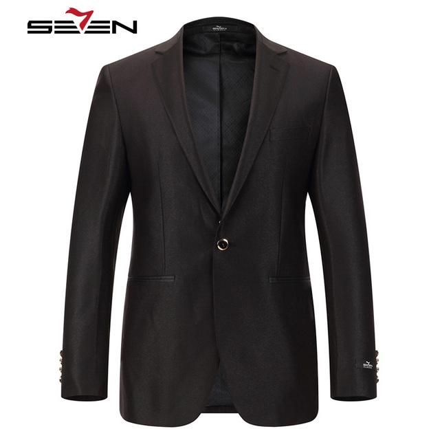 Seven7 Marca Os Homens Se Vestem Ternos Pretos 3 Peças (Paletó, Colete, Calça) 1 Botão Frente Sólida clássico de Alta Qualidade Se Adapte Conjuntos 703C1422